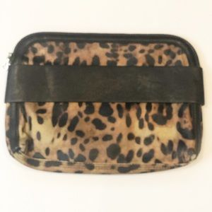 French Connection Cheetah Dream Boat Clutch Purse